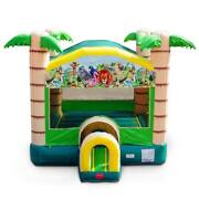 Tropical Jungle Bounce House Castle Without Blower Kids Commercial Inflatable