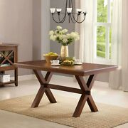 Farmhouse Dining Room Table Wood Kitchen Breakfast Tables 6-person Rectangular