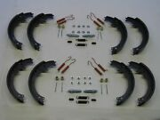 8 Brake Shoes W/ Adjusters And Hardware 53 54 55 56 57 58 59 Cadillac New