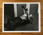 Authentic And Original Marilyn Monroe Lifting Weights Phillipe Halsman Photograph