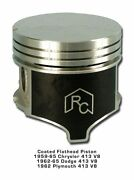 8 Coated Pistons And Rings 63 64 65 Chrysler Dodge 413