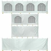 8fth 20x40 High Peak Tent Sidewall Kit Solid And Cathedral Window 16oz Blockout