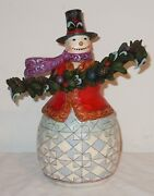 New Signed Jim Shore Heartwood Creek Trimmed With Good Tidings Snowman 2012