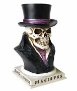 Count Magistus Skull Magician Top Hat Money Box Coin Bank V35 Alchemy Gothic