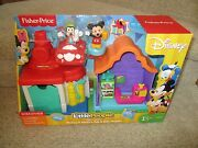 Fisher Price Little People Disney Mickey Mouse Goofyand039s Gas Dine Station Playset
