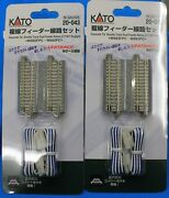 Lot Of 2 - N Scale Kato Unitrack 20-043 Double Track Dual Feeder 62mm 2 7/16