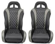 Pair Of 2018 Polaris Rzr 1000 Turbo Xp Silver And Black Seats-direct Replacement