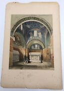 San Nazario Celso Ravenna 1843 G Moore Colored Lithograph Architecture Of Italy