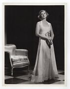 Gorgeous Deco Myrna Loy In Gown Original Clarence Sincair Bull 10x13 Photo