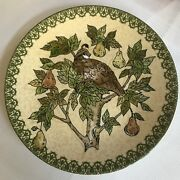 Pottery Barn 12 Days Of Christmas Partridge Pear Tree Coupe Platter 14inch