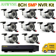 8ch Nvr 8 Channel Security System 5mp 72ir Led Ip Camera With Varifocal 2.8-12mm