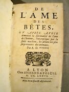 Antoine Dilly. De Land039ames Des Betes... 1st Ed 1676 Animal-machine Theory