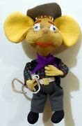 Vintage Toy Doll Topo Gigio Cowboy West Cloth Lenci By Lars 1960s Made In Italy