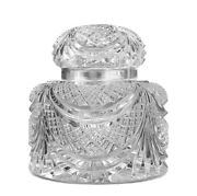 Baccarat Extremely Rare Large Flaubert Inkwell 1764303 Clear Crystal Ltd 300 New