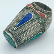 Antique Ottoman Wax Seal Ring With Turquoise Signet