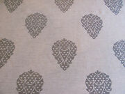 Beautiful Castel Fabric Shalimar In Silver And White 5+ Yards Discontinued