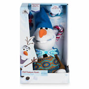 Disney Parks Exclusive Olaf Feature Talking Singing Holiday Plush Toy Frozen Nib