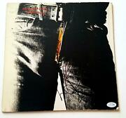 Rolling Stones Charlie Watts Signed Sticky Fingers Lp Album Acoa