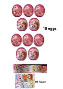 New 10 Disney Palace Pets Plastic Surprise Eggs With Toy Figure In Each Egg