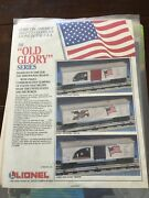 Lionel Trains Catalog Old Glory Series 1989