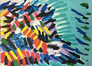 Karel Appel Moving Face In A Blue Sea Rare Pencil Signed Lithograph Abstract ...