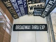 Ny Nyc Irt Subway Roll Sign Broadway Theater Arts District Express Manhattan