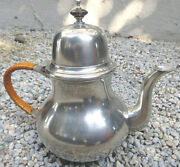 Vintage Collectible John Somers Brazil Handmade Pewter Colonial Tea Pot Mint