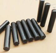 6 Pcs Real Horn Rod Roll Solid Blank Knife Handle Seal Stick