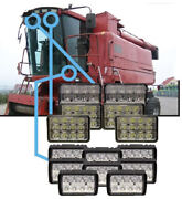 Complete Case Ih 2144-2588 Combine Led Light Kit 14 Lights