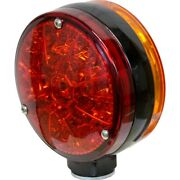 Fits John Deere Tractor Windrower Combine Led Double-sided Flashing Amber Red