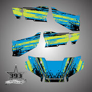 Honda Pioneer 1000-5 Limited Deluxe Cyan Wrap Graphics Decal 2016 - 2019