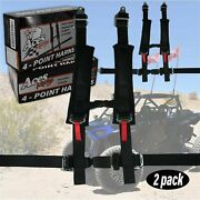 X2 Polaris Rzr 4 Point Harnesses- E4 Certified- 2 Inch Padding- With Rzr Bypass
