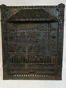 Antique Cast Iron Surround Gas Fireplace Insert Gothic Steampunk Awesome