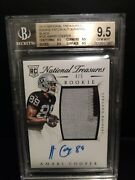 2015 National Treasures Amari Cooper Auto Patch Rc Jersey /5 Bgs 9.5 W/ 10