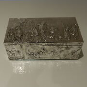 Early 20th Century Antique Silver Edwardian Import Marked Large Jewellery Casket
