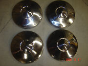 65 Ford Fairlane 9 1/2 Dia Dog Dish Hubcaps Wheel Covers Polished Looks Nos 289