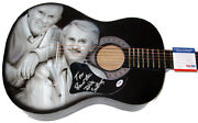 Smothers Brothers Autographed Signed Airbrush Guitar Proof Psa Aftal
