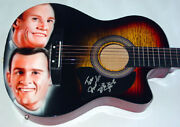 Smothers Brothers Autographed Signed Airbrush Guitar Psa Proof Aftal