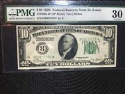 1928 10   Federal Reserve Note   Star   St. Louis Fr.2000-h   [[]]
