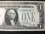 Fr. 1601 | 1928-a 1 Silver Certificate Funny Back Star Woods / Mellon [[]]