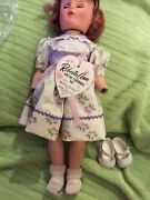 Antique Composition Roberta Doll Original Clothes With Tag Vintage Htf