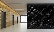 3d Pure Black Curve 4 Texture Tiles Marble Wall Paper Decal Wallpaper Mural
