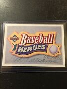 Ted Williams Autograph Auto Baseball Heroes Card 095/406 Upper Deck Nice