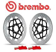 Kawasaki Z750 M7f-9f Abs 07-12 Brembo Complete Front Brake Disc And Pad Kit