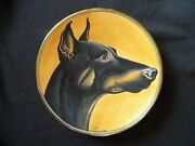 Vintage Doberman Pinscher Plate By Veneto Flair 1974 Le By V. Tiziano Italy
