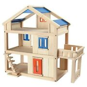 Plan Toys Terrace Dollhouse -andnbsp Fully Equipped
