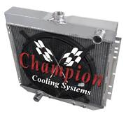 3 Row Wr Champion Radiator W/ 16 Fan For 1967 68 69 1970 Ford Mustang L6 Engine