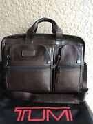 💼 💼 Tumi Aplha 2 Rare Vintage Brown Leather Briefcase Laptop Bag Carry On 595