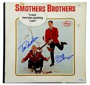 Smothers Brothers Autograph Signed Record Album Lp Acoa