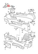 Genuine Vw Caddy Insert For Stowage Compartment 2k58633309b9